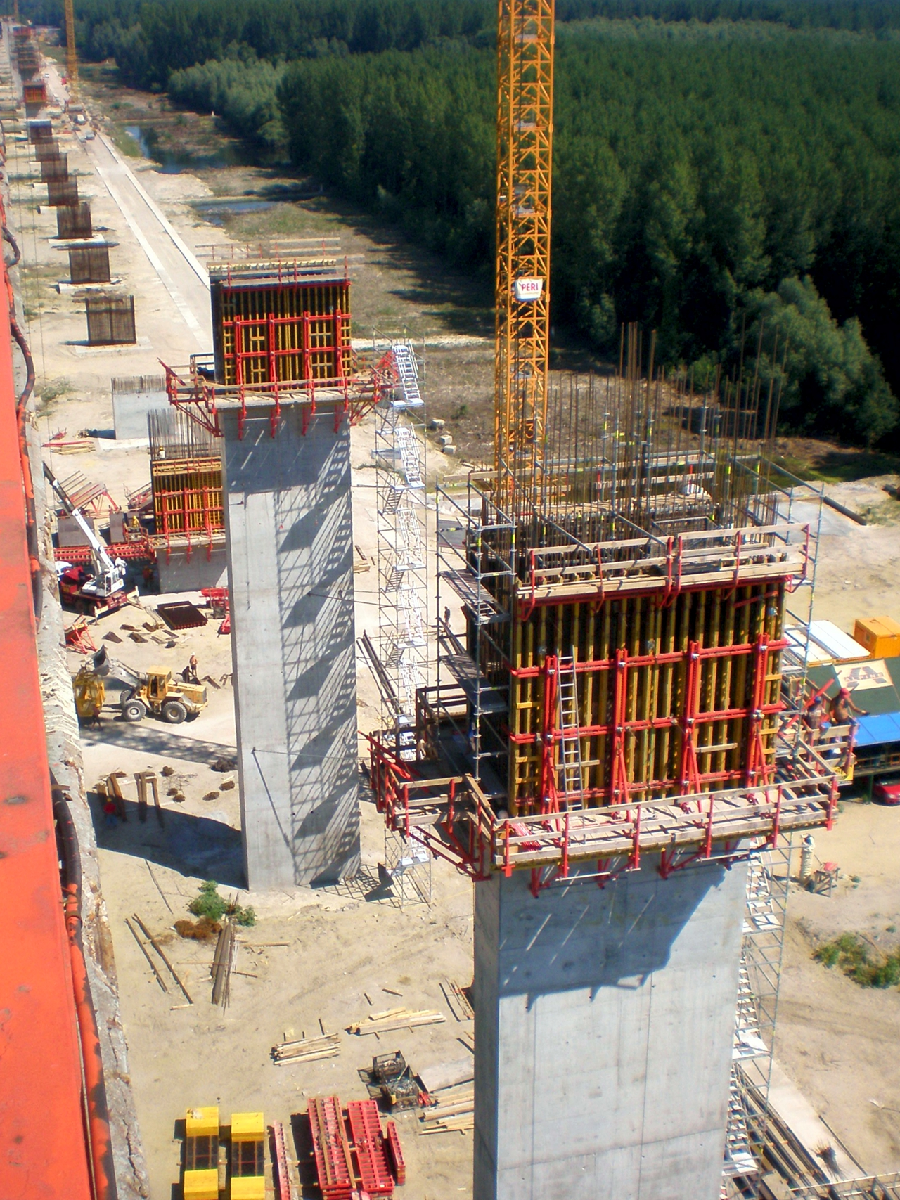 construction of bridge near beska
